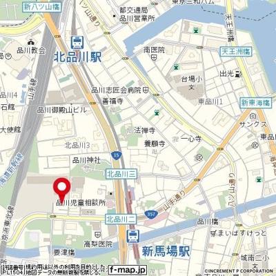 【地図】スカイコート品川