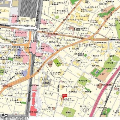 【地図】品川大井町スカイレジテル