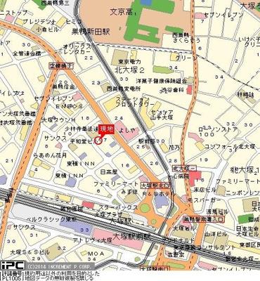 【地図】ライオンズマンション大塚第2