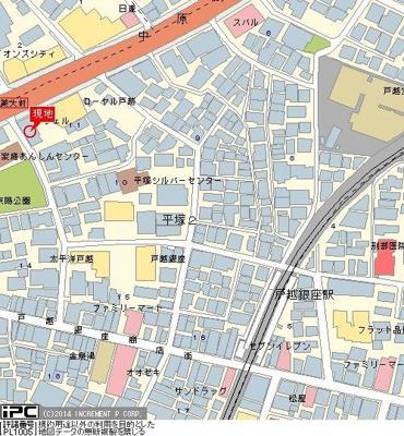 【地図】スカイコート戸越銀座