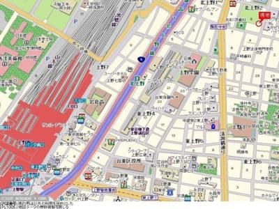 【地図】ダイアパレス上野第Ⅱ