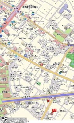 【地図】トップ南青山第2