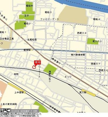 【地図】ハピネス上中里