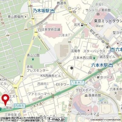 【地図】メインステージ西麻布