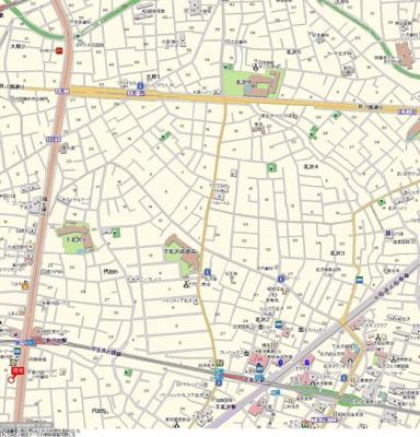 【地図】パークウェル下北沢