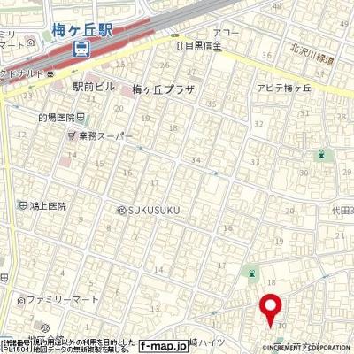 【地図】菱和パレス世田谷代田