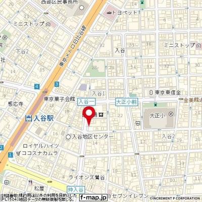 【地図】入谷センチュリープラザ21