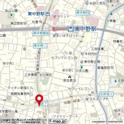 【地図】トップ中野第5