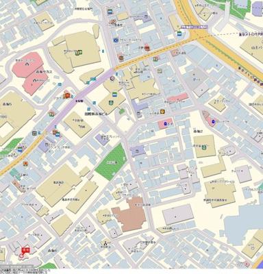 【地図】ソフトタウン赤坂