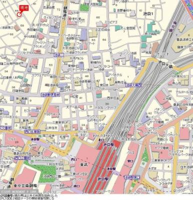 【地図】サンテミリオン池袋Ⅱ
