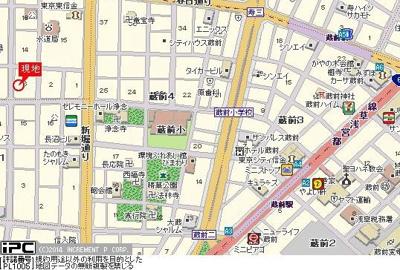 【地図】ヴェラハイツ蔵前