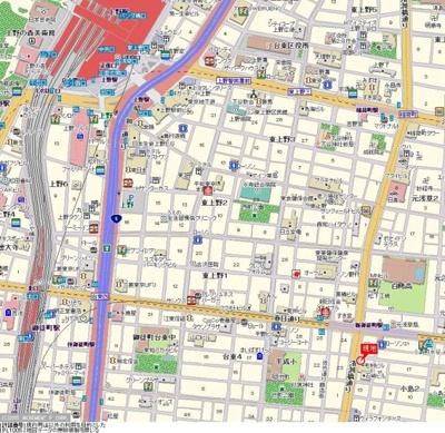 【地図】ダイアパレス御徒町第2