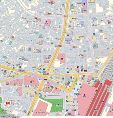 【地図】パレステュディオ立教通り