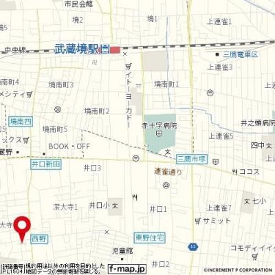 【地図】メゾン大野