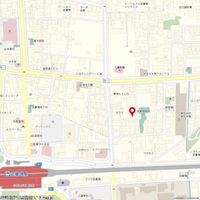【地図】サンシャイン武蔵野