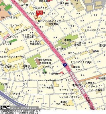 【地図】ライオンズプラザ本蓮沼