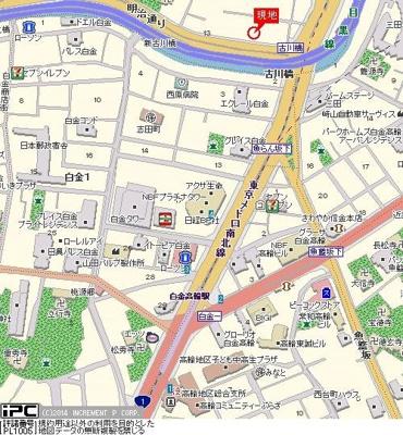 【地図】ルーブル南麻布