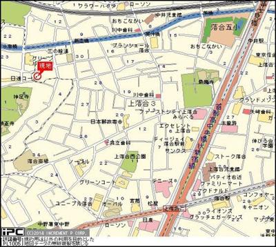 【地図】スカイコート新宿落合第6