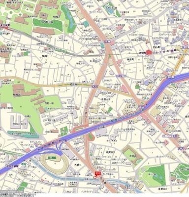 【地図】サンテミリオン目黒東山