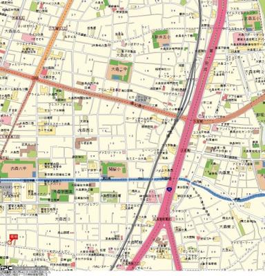 【地図】日神パレステージ大森第2