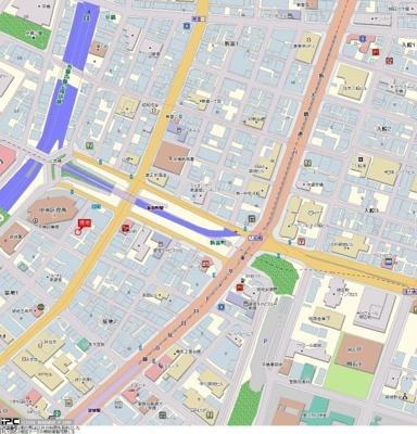 【地図】スカイコート銀座東