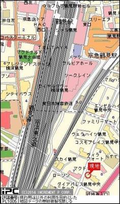 【地図】パーク・ノヴァ鶴見