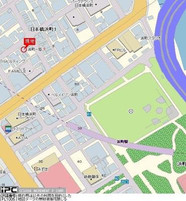 【地図】シンシア日本橋