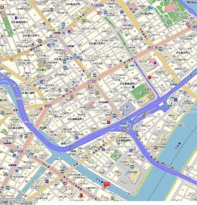【地図】サンテミリオン茅場町リバーサイド