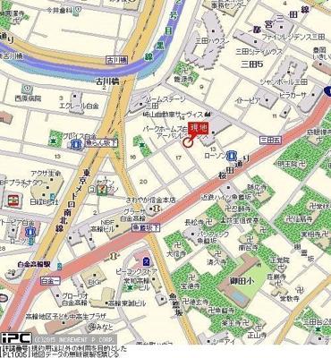 【地図】メインステージ白金高輪