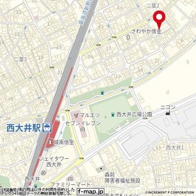 【地図】クレヴィスタ品川西大井