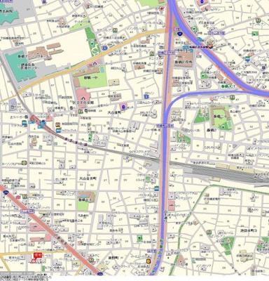 【地図】ライオンズマンション板橋中丸町