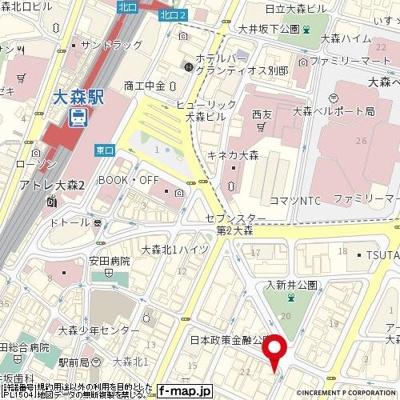 【地図】ワコーレ大森