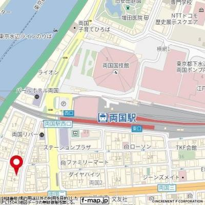 【地図】エテルノ両国リバーサイド