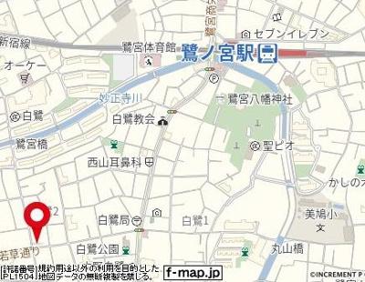【地図】フラワーコーポ