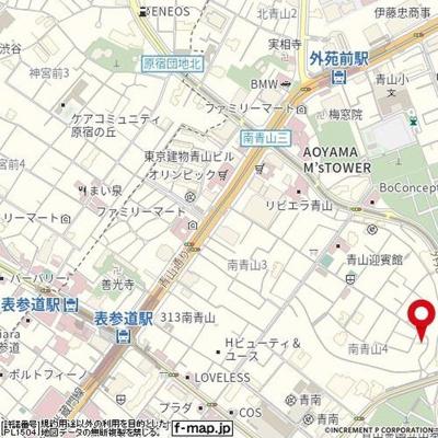 【地図】ハイシティ南青山
