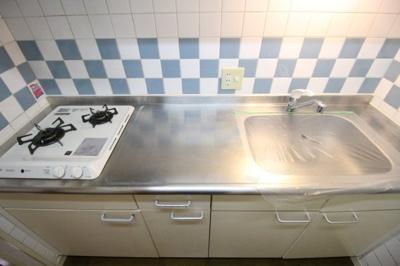 システムキッチン(2口ガスコンロ)
