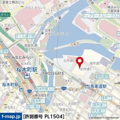 【地図】ザ・タワー横浜北仲