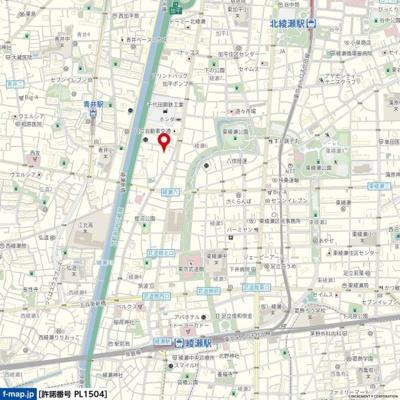 【地図】グリーンプラザ綾瀬Ⅱ
