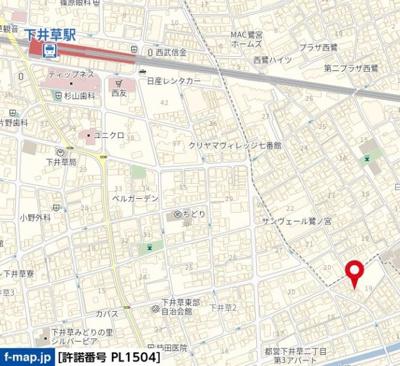 【地図】ヴィエント下井草