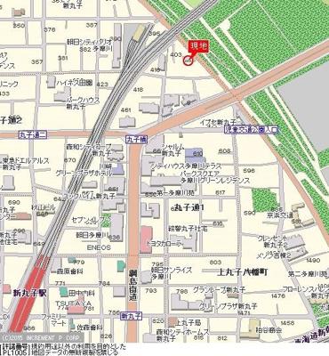 【地図】朝日多摩川プラザ