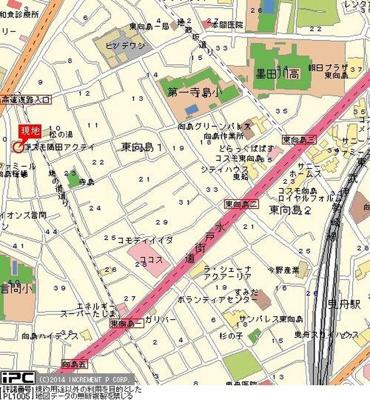 【地図】コスモ隅田アクティ