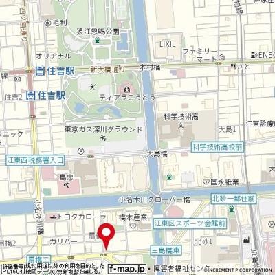 【地図】ガーラ・シティ深川扇橋