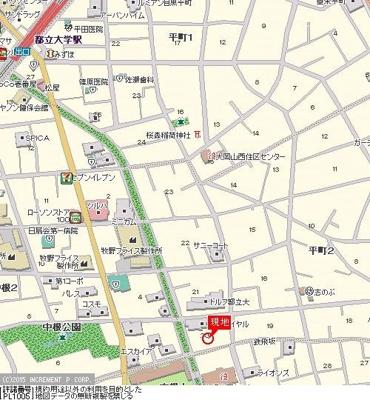 【地図】ドム都立大