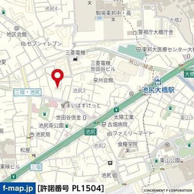 【地図】スカイコート池尻