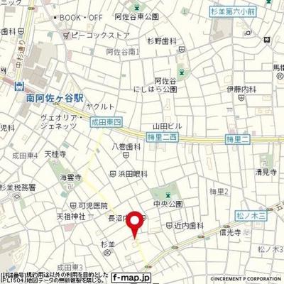 【地図】ADX南阿佐ヶ谷