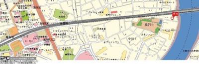 【地図】レオパレス中川第2
