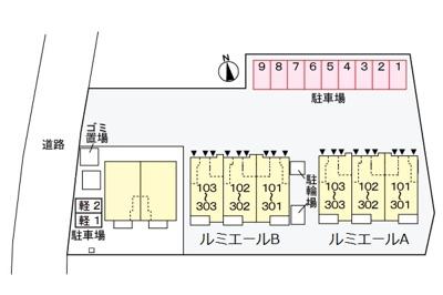 【区画図】ルミエールB