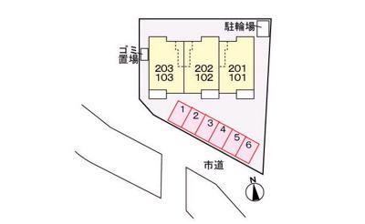 【区画図】リバーサイド黒原