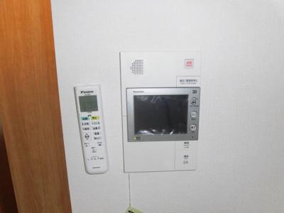 TVモニター付きインターホン完備