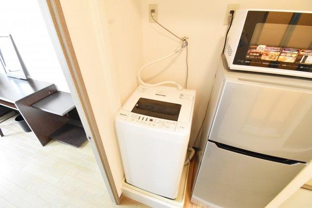 もちろん洗濯機は室内に設置可能。
